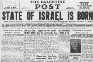 State of Israel established May 14, 1948