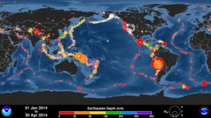 Global Earthquake Map End Times Signs
